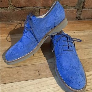 Del Toro Royal Blue Wingtip Brogues Oxfords Us 8